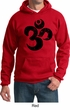 Mens Yoga Hoodie Black Distressed OM Hoody