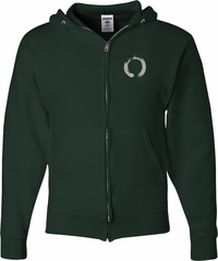 Mens Yoga Hoodie Enso Pocket Print Full Zip Hoody