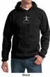 Mens Yoga Hoodie Sweatshirt – Warrior 2 Pose Hooded Sweat Shirt