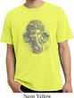 Mens Yoga Shirt 3D Ganesha Lights Pigment Dyed Tee T-Shirt