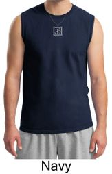Mens Yoga Shirt � Aum Charm Meditation Adult Muscle Shirt