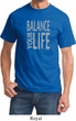 Mens Yoga Shirt Balance Your Life Tee T-Shirt