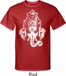 Mens Yoga Shirt BIG Ganesha Head Tall Tee T-Shirt
