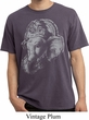 Mens Yoga Shirt BIG Ganesha Profile Pigment Dyed Tee T-Shirt