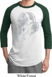 Mens Yoga Shirt BIG Ganesha Profile Raglan Tee T-Shirt