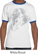 Mens Yoga Shirt BIG Ganesha Profile Ringer Tee T-Shirt