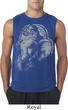 Mens Yoga Shirt BIG Ganesha Profile Sleeveless Tee T-Shirt