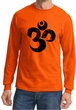 Mens Yoga Shirt Black Distressed OM Long Sleeve Tee T-Shirt
