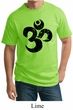 Mens Yoga Shirt Black Distressed OM Tall Tee T-Shirt
