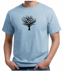 Mens Yoga Shirt Black Tree of Life Organic Shirt