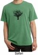 Mens Yoga Shirt Black Tree of Life Pigment Dyed Shirt