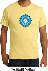 Mens Yoga Shirt Blue Vishuddha Organic Tee T-Shirt