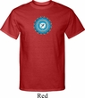 Mens Yoga Shirt Blue Vishuddha Tall Tee T-Shirt