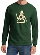 Mens Yoga Shirt Body OM Long Sleeve Tee T-shirt