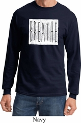 Mens Yoga Shirt Breathe Long Sleeve Tee T-Shirt