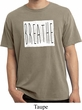 Mens Yoga Shirt Breathe Pigment Dyed Tee T-Shirt