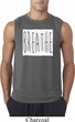 Mens Yoga Shirt Breathe Sleeveless Tee T-Shirt