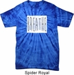 Mens Yoga Shirt Breathe Spider Tie Dye Tee T-shirt