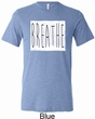 Mens Yoga Shirt Breathe Tri Blend Crewneck Shirt