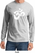 Mens Yoga Shirt Brushstroke Aum Long Sleeve Tee T-Shirt