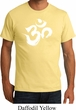 Mens Yoga Shirt Brushstroke Aum Organic Tee T-Shirt