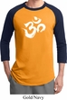 Mens Yoga Shirt Brushstroke Aum Raglan Tee T-Shirt