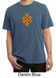 Mens Yoga Shirt Endless Knot Pigment Dyed Tee T-Shirt