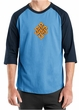 Mens Yoga Shirt Endless Knot Raglan Tee T-Shirt