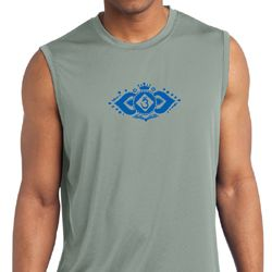 Mens Yoga Shirt Floral Ajna Sleeveless Moisture Wicking Tee T-Shirt