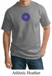 Mens Yoga Shirt Floral Sahasrara Tall Tee T-Shirt