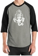 Mens Yoga Shirt Ganesha Head Raglan Tee T-Shirt