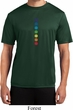 Mens Yoga Shirt Glowing Chakras Moisture Wicking Tee T-Shirt