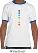 Mens Yoga Shirt Glowing Chakras Ringer Tee T-Shirt