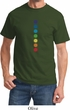 Mens Yoga Shirt Glowing Chakras Tee T-Shirt