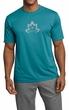 Mens Yoga Shirt Grey Namaste Lotus Moisture Wicking Tee T-Shirt