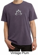 Mens Yoga Shirt Grey Namaste Lotus Pigment Dyed Tee T-Shirt