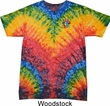 Mens Yoga Shirt Hippie Sun Patch Pocket Print Tie Dye Tee T-shirt