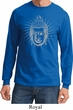 Mens Yoga Shirt Iconic Buddha Long Sleeve Tee T-Shirt