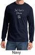 Mens Yoga Shirt Jai Guru Deva Long Sleeve Tee T-Shirt