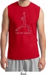 Mens Yoga Shirt Line Warrior Muscle Tee T-Shirt