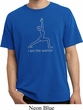 Mens Yoga Shirt Line Warrior Pigment Dyed Tee T-Shirt