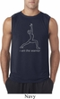 Mens Yoga Shirt Line Warrior Sleeveless Tee T-Shirt