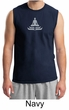 Mens Yoga Shirt - Lotus Pose Meditation Adult Muscle Shirt