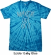 Mens Yoga Shirt Namastay Out Of It Spider Tie Dye Tee T-shirt