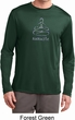 Mens Yoga Shirt Namaste Lotus Pose Dry Wicking Long Sleeve T-Shirt
