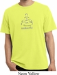 Mens Yoga Shirt Namaste Lotus Pose Pigment Dyed Tee T-Shirt