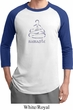 Mens Yoga Shirt Namaste Lotus Pose Raglan Tee T-Shirt