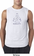 Mens Yoga Shirt Namaste Lotus Pose Sleeveless Tee T-Shirt