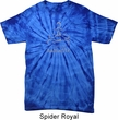 Mens Yoga Shirt Namaste Lotus Pose Spider Tie Dye Tee T-shirt