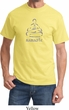 Mens Yoga Shirt Namaste Lotus Pose Tee T-Shirt